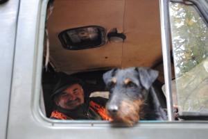 Kierowca rajdowy wraz z pilotem.